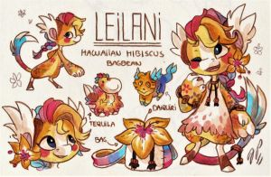 Leilani Ref. Sheet [Commission w/ Outfit Design] by Baraayas