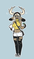 Hipster Jackalope Girl by cornfrosty