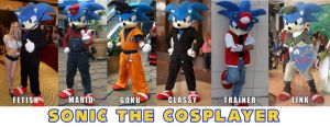 Current lineup of Sonic the Cosplayer by SonicTheCosplayer