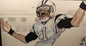 Cam newton by TheDrawingdepot