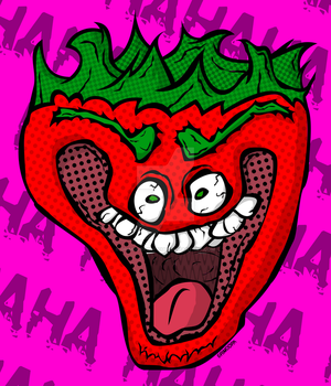 Jeffy the Insane Strawberry by GrimDorkOfficial