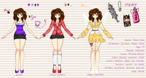 Yumi reference by Purrinee