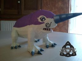 Digimon Papercraft Drimogemon Right by HellswordPapercraft