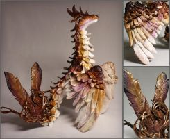 Sienne the Feathered Dragon Sculpture by LuxDani