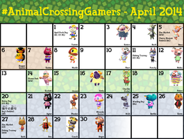 #ACG Calendar for April 2014 by TheStaticStalker