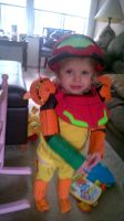 Toddler Samus Cosplay by JacobLionheart