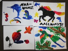 Finger Painting Silliness by Tawadi