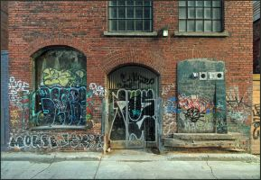 Queen Street West Back Alley by DouglasHumphries
