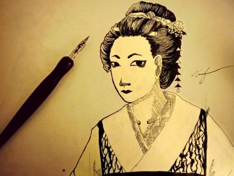 The Look of a Geisha by love-TheBeatles