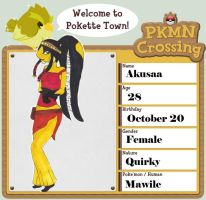 PKMN-Crossing app: Akusaa by Holographic-Neku