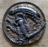 ALIEN XENOMORPH sculpture, Tribute to H.R.Giger by Mixta110