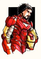 Tony Stark - Man in armor by Av3r