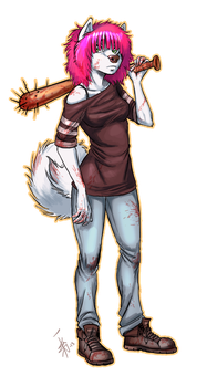 - another zombie hunter version of Zee- by oomizuao