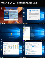 Win 10 v1 on Remix Pack v4.0 (Customizable Pack) by darkseis