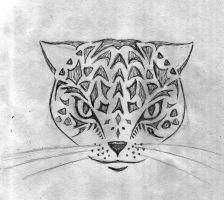 Cat Face Tattoo 1 by Keira-Blacktalon