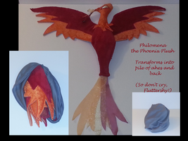 Reversible Philomena Phoenix Plush by Drachefrau