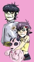 Noodle and Murdoc (Color) by Rockpapsii