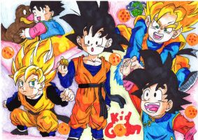 Kid Goten collage by Ninja-pineapple