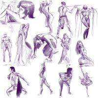 Gesture Drawing 2 by BinaryDood