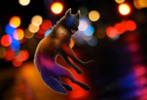 Werewolf caught in the city by Vargyl
