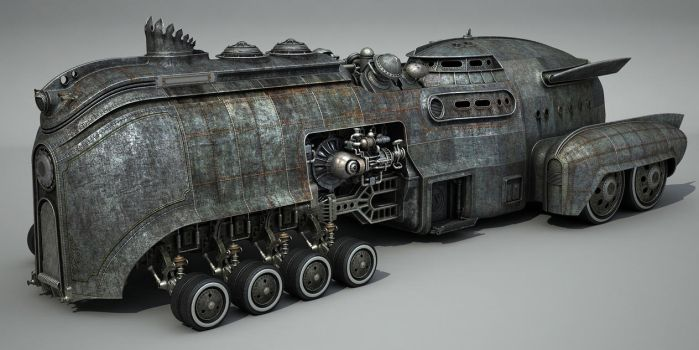 WIP Steamcar, texturing by Aci-RoY