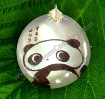 Tare Panda glass pendant by The-Cute-Storm