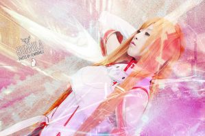 Cosplay - Sword art online Asuna Sao by Korixxkairi