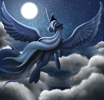 Princess Luna by wingedwolf94