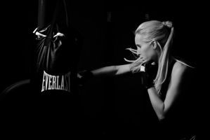 Jessica Punching Bag by AquarianPhotography