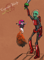 Captain Skelp and Mimi by AtomicWarpin