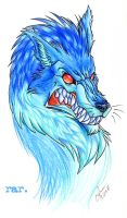 Bloo Wuff by nakanoart