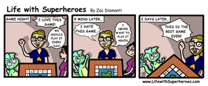 Life with Superheroes #14 by ZacAvalanche