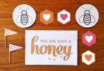Free Printable Honey Valentine's Card and Tags by ClementineCreative