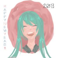 Miku New Year by SaoriAo