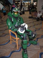 Master Chief with Portal Gun by vampir-renji