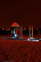 playground at night by osiolekpl