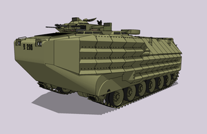 AAV7 A1 with EEAK Armor by louielikespie
