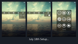 July 18th iPhone setup by MrPedroson