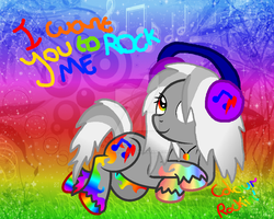 MLP OC - Colour Rockin (Spectrum Pony) by cheesepuff2