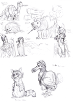Fantasy Animal Sketches by caycowa