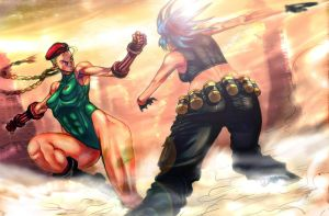 CAMMY VS LEONA by sagatt