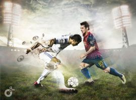Leo Messi vs Cristiano Ronaldo by eska1303