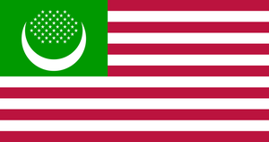 American Islamic flag v3 by Flagsdesigns