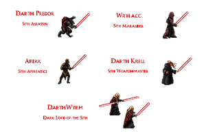 The Sith - Dragon Lord Supporting Cast by Aeruhl