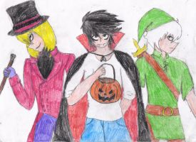 DNHalloween- L and Co. by ChoppertheNinja