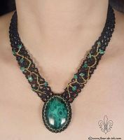 Malachite necklace N932 by Fleur-de-Irk