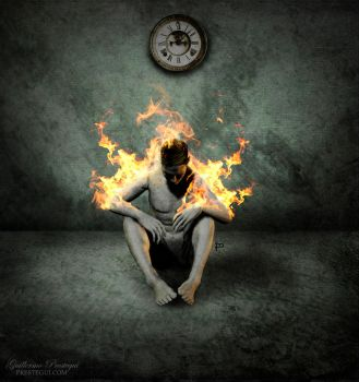 Time burns me down without you by Prestegui
