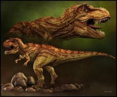 Tyrannosaurid-by-Stephen-Thomson by Stephen-Ian-Thomson