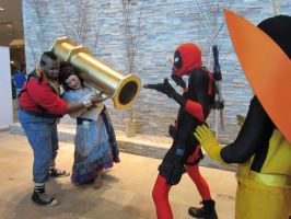 Mr. T, lady, and Deadpool by Shadow-Lockheed