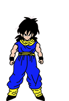 Gohan Done in MS paint by Hand-Banana